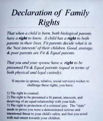 Declaration of Family Rights